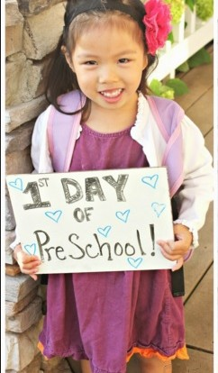 first day preschool toddler