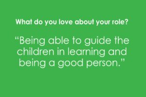 What do you love about your role? Apple Montessori Professional Development Day