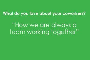 What do you love about your coworkers? Apple Montessori Professional Development Day